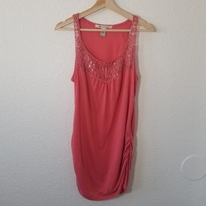 American Rag Pink Ruched Tunic Top